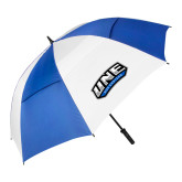 62 Inch Royal/White Vented Umbrella-UNE Nor Easters