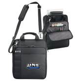 Kenneth Cole Black Vertical Checkpoint Friendly Messenger-UNE Nor Easters