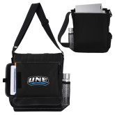 Impact Vertical Black Computer Messenger Bag-UNE Nor Easters