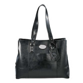 Kenneth Cole Classy Black Ladies Computer Tote-Navigators Sail  Debossed