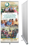 33.5 x 80 Vertical Banner including Silver Retractable Banner Stand-Navigators Our Calling