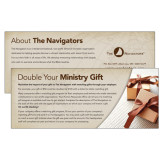 Double Your Ministry Gift Employer Gift Matching Card 25/pkg-