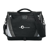 Slope Black/Grey Compu Messenger Bag-The Navigators