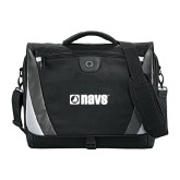 Slope Black/Grey Compu Messenger Bag-NAVS