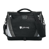 Slope Compu Black/Grey Messenger Bag-Glen Eyrie - Flat