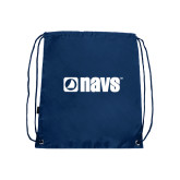 Nylon Navy Drawstring Backpack-NAVS