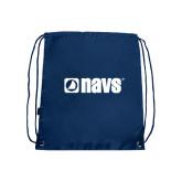 Navy Drawstring Backpack-NAVS