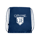 Nylon Navy Drawstring Backpack-Glen Eyrie