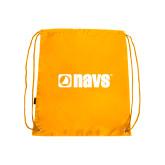 Gold Drawstring Backpack-NAVS