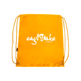 Gold Drawstring Backpack-Eagle Lake Camps