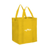 Non Woven Gold Grocery Tote-Eagle Lake Camps