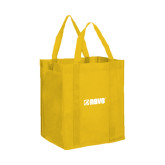 Non Woven Gold Grocery Tote-NAVS