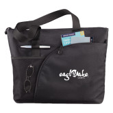 Excel Black Sport Utility Tote-Eagle Lake Camps