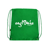 Kelly Green Drawstring Backpack-Eagle Lake Camps