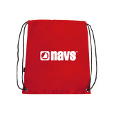 Nylon Red Drawstring Backpack-NAVS