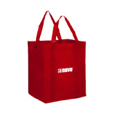 Non Woven Red Grocery Tote-NAVS