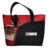 Excel Red Sport Utility Tote-NAVS