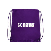 Nylon Purple Drawstring Backpack-NAVS