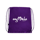 Purple Drawstring Backpack-Eagle Lake Camps