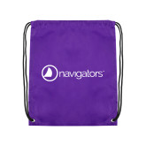 Purple Drawstring Backpack-Navigators