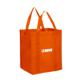Non Woven Orange Grocery Tote-NAVS