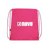 Pink Drawstring Backpack-NAVS