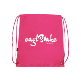 Pink Drawstring Backpack-Eagle Lake Camps