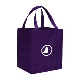 Non Woven Purple Grocery Tote-Sail Icon
