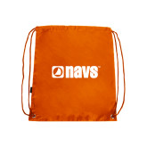 Nylon Orange Drawstring Backpack-NAVS