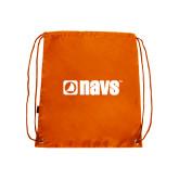 Orange Drawstring Backpack-NAVS