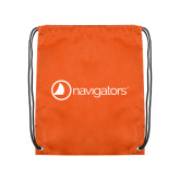 Orange Drawstring Backpack-Navigators