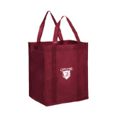 Non Woven Maroon Grocery Tote-Glen Eyrie