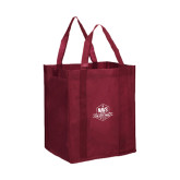 Non Woven Maroon Grocery Tote-NAVS Military