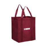Non Woven Maroon Grocery Tote-NAVS