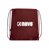 Nylon Maroon Drawstring Backpack-NAVS
