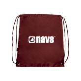 Maroon Drawstring Backpack-NAVS