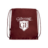 Nylon Maroon Drawstring Backpack-Glen Eyrie
