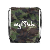 Camo Drawstring Backpack-Eagle Lake Camps