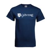 Navy T Shirt-Glen Eyrie - Flat