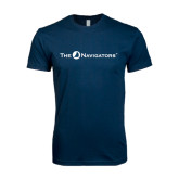 Next Level SoftStyle Navy T Shirt-The Navigators