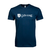 Next Level SoftStyle Navy T Shirt-Glen Eyrie - Flat