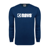 Navy Long Sleeve T Shirt-NAVS