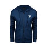 ENZA Ladies Navy Fleece Full Zip Hoodie-Glen Eyrie