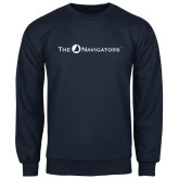 Navy Fleece Crew-The Navigators
