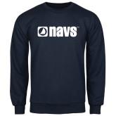 Navy Fleece Crew-NAVS