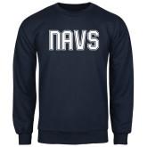 Navy Fleece Crew-NAVS Collegiate Modern