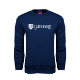 Navy Fleece Crew-Glen Eyrie - Flat