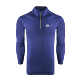 Under Armour Navy Tech 1/4 Zip Performance Shirt-The Navigators