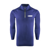 Under Armour Navy Tech 1/4 Zip Performance Shirt-NAVS