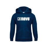 Youth Navy Fleece Hoodie-NAVS
